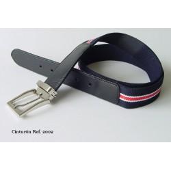 Cinturón lona elastica azul ref. 2002