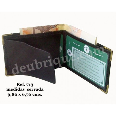 Cartera Billetera Porta placa Ref. 713