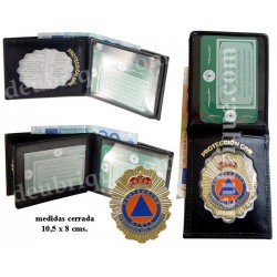 PLACA Y BILLETERA PROTECCION CIVIL REF. 736PROPL