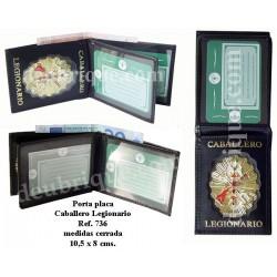 PLACA Y BILLETERA CABALLERO LEGIONARIO REF. 736CLPL