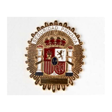 PLACA INSIGNIA SEGURIDAD PRIVADA
