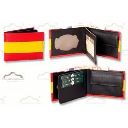 Cartera con Monedero para Policía Nacional, Bandera España